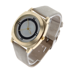 2016 New Arrive Fashion Casual Watch Women Leather Strap Sport Watch Beige (Intl)