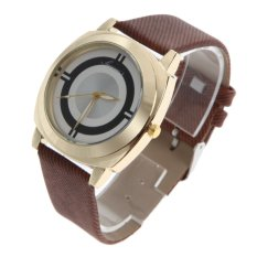 2016 New Arrive Fashion Casual Watch Women Leather Strap Sport Watch Brown (Intl)