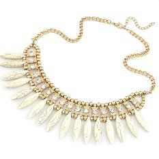 2016 New Fashion Spike Turquoise Bohemian Chain Choker Vintage Necklace Bib Statement Necklaces Pendants Women Jewelry (Intl)