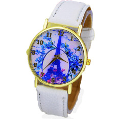 2016 Paris Eiffel Tower ladies leisure fashion leather watch tower all-match students watch the Tide - intl