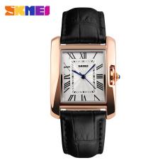 2016 Skmei Brand Elegant Retro Watches Women Fashion Luxury Quartz Watch Clock Female Casual Leather Women's Wristwatches (Black)