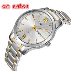 2016 Watches Men Luxury Brand Watch BIDEN 1001 Quartz Digital Men Wristwatches Dive 30m Casual Fashion Watch Relogio Masculino (Silver)