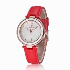 2016 Women Wristwatches Fashion Rhinestone Watches Casual Dress Quartz Ladies Brand Bracelet Watch (Red) (Intl)