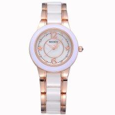 2017 New Luxury Brand Women Ceramic Watch Fashion Geneva Female Watches Lady Quartz Wrist Watches Relojes Mujer - intl