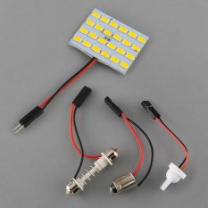 24LED Panel 5730 SMD Lights Warm White Dom Lamp Cars RV Festoon T10 Adapter - Intl