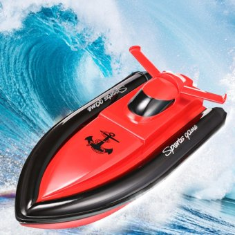 27MHz 4CH High Speed Remote Control Electric RC Racing Boat US PlugRed - intl