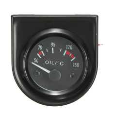 2inch 52mm Universal Car Pointer Oil Temperature Temp Gauge 50-150℃ LED Light