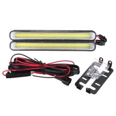 2pcs Daytime Running Light COB 99 LED DRL Car Super White Fog Driving Bulb 12W - Intl