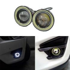 2Pcs/lot Car Fog lights Universal Waterproof 1200Lm Angel Eyes COB LED DRL Driving Lights 12V 30W Auto Fog Lamp Color:White - intl