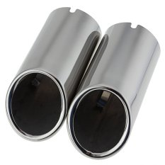 2x Chrome Exhaust Muffler Tip Pipe For VW Jetta 6 MK6 2.0TDI 2.5 201.2012