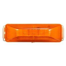 3 LED 12V Truck Trailer Lorry Side Marker Light Lamp Red Amber White Unopery Amber - Intl