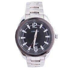 360WISH LONGBO 8829 Men's Quartz Watch 30M Waterproof Simple Fashion Business Steel Band Wrist Watch