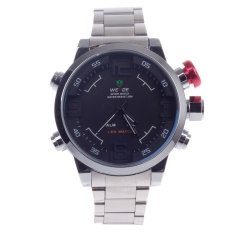 360WISH WEIDE WH-2309 Quartz LED Military Sport Alarm Wrist Watch Silver