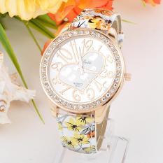 3pcs * 0 Geneva diamond watch watchband double diamond watches wholesale female color printing female spot 95Violet - intl