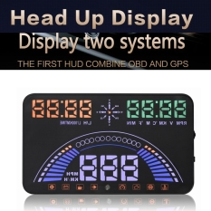 5.8inch S7 Car Styling OBD + GPS HUD Head Up Display Auto Interface Engine Fault Alarm Speedometer Alarm - Intl