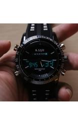 6.11 Men Quartz Sports Watches LED Digital Display Double Movement 8150 (Intl)