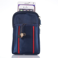 6.3 Inches Vertical Style Multifunction Outdoor Waist Bag Phone Bag With Hook (Blue) - Intl