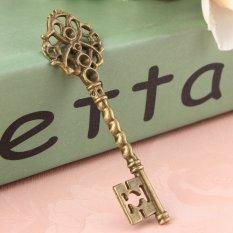 6 Large Mixed Antique Bronze Skeleton Key Wedding Vintage Fancy Pendants Charms - Intl