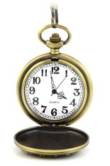 608810 Vintage Retro Style Face Dial Canada Marble Engraved Pocket Watch (Bronze)