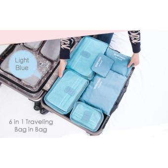 6in1 Set Travel Mate Tas Koper Bag Tempat Organizer Pakaian Laundry Pouch