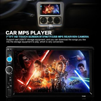 7010B 7 Inch HD 1080P Double-DIN Car Vehicle Stereo MP5 Player Bluetooth Touchscreen MP3 FM Radio Support USB / SD Card - Intl