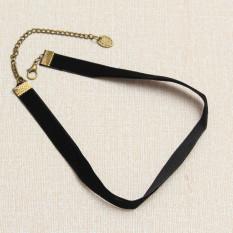 90s Velvet Choker Black Necklace Ribbon Retro Vintage Gothic Goth