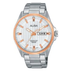 Alba Active Jam Tangan - Strap Stainless Steel - Silver - AT2052X1