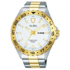 Alba Jam Tangan Pria - Tali Stainless Steel - Silver Gold - AV3512X1