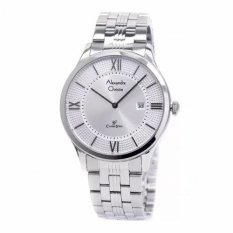 Alexandre Christie 8503 - Jam Tangan Pria - AC 8503 - Silver White - Stainless Steel - Anti Air (Silver)
