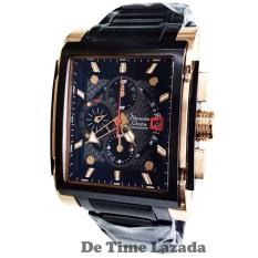 Alexandre Christie AC6405 Jam Tangan Pria Stainless Steel Hitam Rose Gold