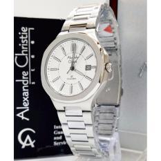 Alexandre Christie AC8524L - Jam Tangan Wanita - Stainless Steel (Silver Putih)