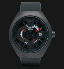 Alexandre Christie - Alexandre Christie Jam Tangan Pria - Full Black Leather - 3031