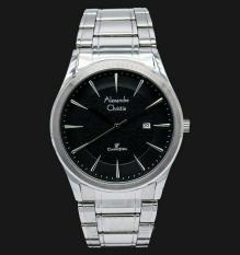 Alexandre Christie - Alexandre Christie Jam Tangan Pria - Silver Black Dial - 8477