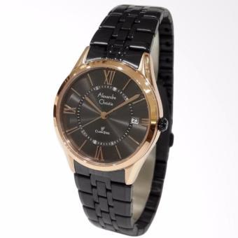Alexandre Christie Classic Steel 8526LDBBRBA Jam Tangan Wanita - Black Rose Gold