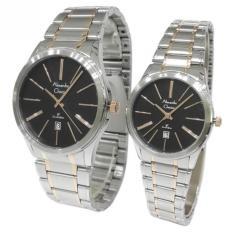 Alexandre Christie Classic Steel Couple Series 8448LMDBTRBA - Silver & Rose Gold - Jam Tangan Pasangan