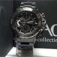 Alexandre Christie Jam Tangan Pria Alexandre Christie AC9205MC Chronograph AC Collection Black Stainless Steel