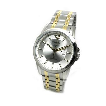 Alexandre Christie - Jam Tangan Pria - Silver Komb Gold-Putih - Stainless Steel -