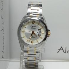 Alexandre Christie Jam Tangan Wanita Alexandre Christie AC8289LD Classic Silver Gold Stainless Steel
