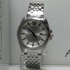 Alexandre Christie Jam Tangan Wanita Alexandre Christie AC8455LD Classic Silver Stainless Steel Dial White