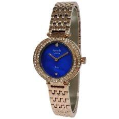 Alexandre Christie Jam Tangan Wanita Strap Stainless Steel Biru Rose Gold AC2442 LHBRGMUDR .