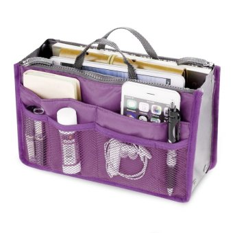 Amart Portable Travel Storage Organizer Bags Multi-function Casual Handbag(Puple) - intl