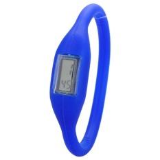 Anion Negative Ion Silicone Bracelet Sports Watch (Blue)