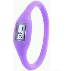 Anion Negative Ion Silicone Bracelet Sports Watch (Purple) - Intl