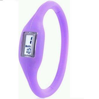 Anion Negative Ion Silicone Bracelet Sports Watch (Purple)