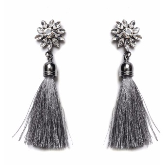 Anting Wanita Tassel Type 003 - Orchid Grey