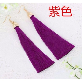 Anting Wanita Tassel Type 005 - Ungu