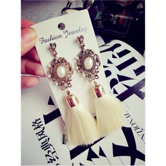 Anting Wanita Tassel Type 007 - Putih