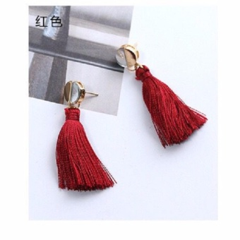 Anting Wanita Tassel Type 011 - Merah