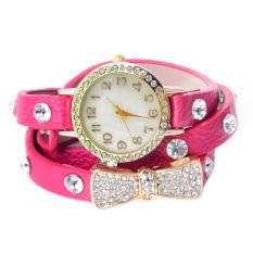 ASTAR Women's Pink Leather Strap Watch - Intl