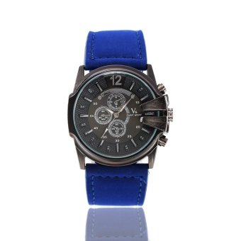 Autoleader V6 201 Unisex PU Band Analog Quartz Wrist Watch